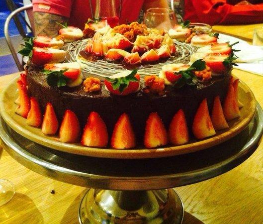 Terrific Special Birthday Cake Choc Fudge Strawberries And Honeycomb 8 Personalised Birthday Cards Paralily Jamesorg
