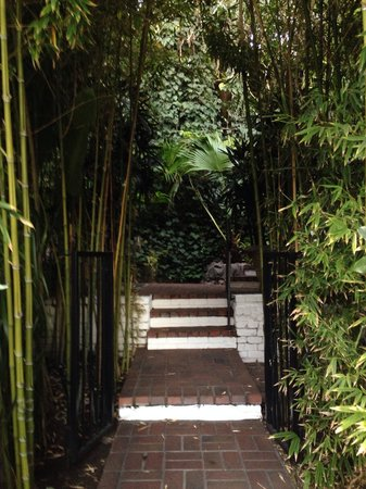 Chateau Marmont: Chateau garden