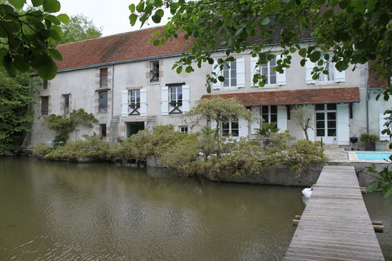 View of Moulin St Julien from the island
