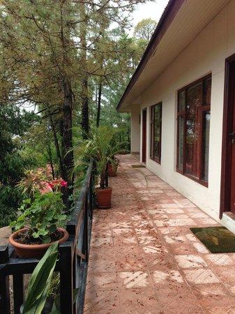 Arcadian Blue Pines Resort - Murree: A small veranda outside adjoining bedrooms