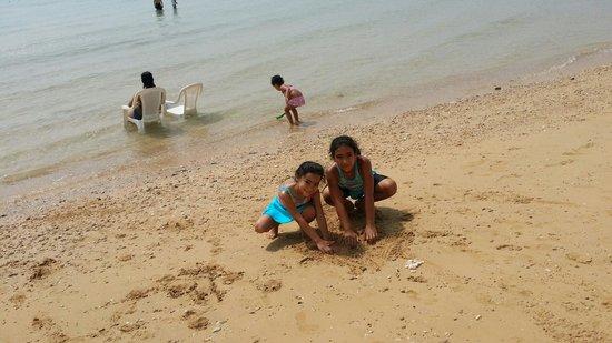 Jaz Little Venice Golf Resort: My son in beach