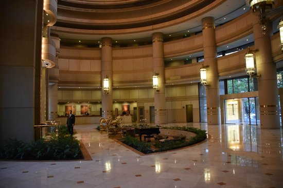 Grand Hyatt Foyer : Waterfall and gardens picture of grand hyatt santiago