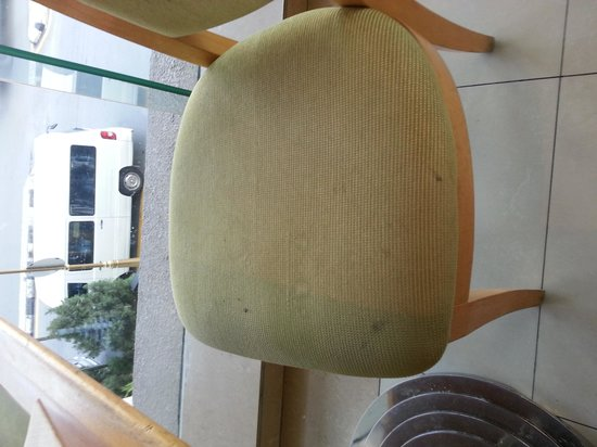 Royale Chulan Bukit Bintang: even chairs in dinning room stained