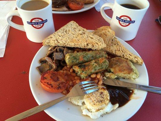 Double Decker Cafe: Veggie breakfast