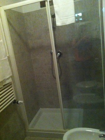 Airone Pisa Park Hotel : Douche spacieuse