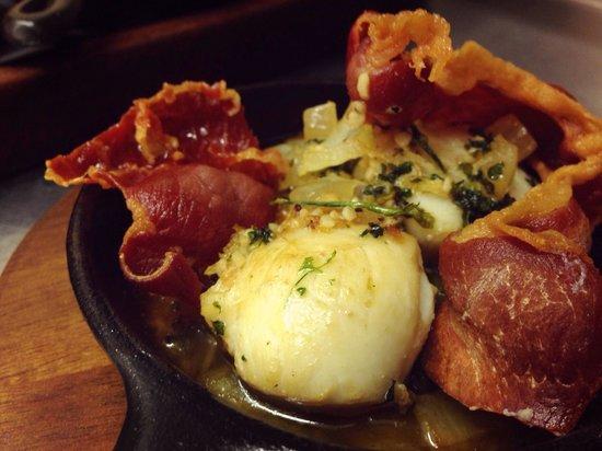 Retreat: Scallops & pancetta