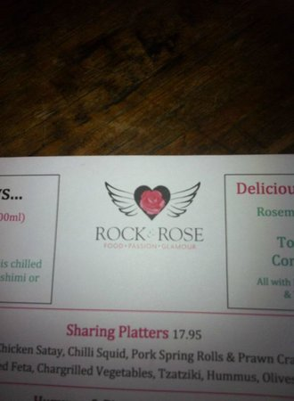 Rock and Rose Restaurant: Fabulous Menu