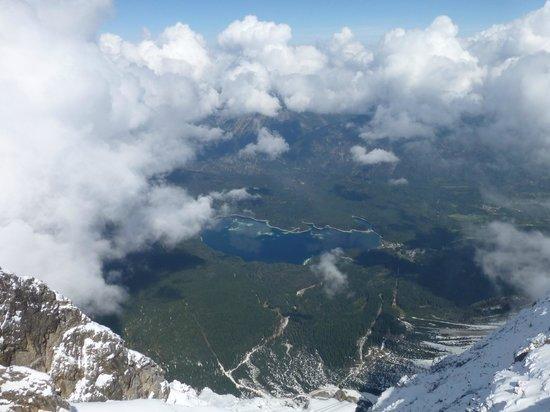 Eibsee Hotel: View from Zugspitze Summit