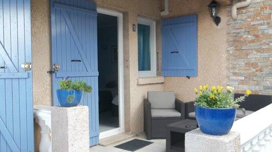 Appart' Bleu Azur : une des chambres