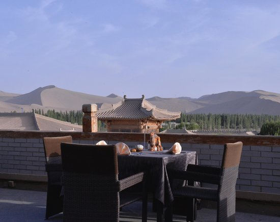 Silk Road Dunhuang Hotel: view from the roof