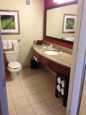Courtyard San Diego Airport/Liberty Station : Fourth floor room bathroom, plenty of room.