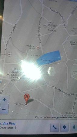 Vila Pina: карта местности