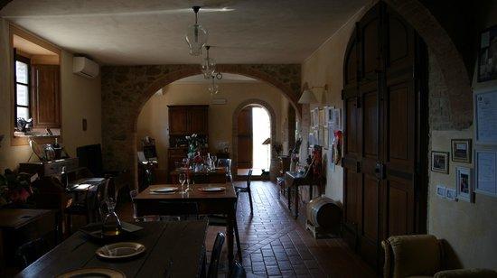 Fattoria AL Meleto: la sala del ristorantino
