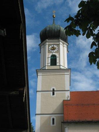 Pension Dedlerhaus: St. Peter and Paul Church Bell Steeple acroos from Inn