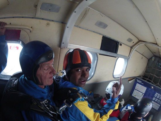 Skydive Spain: inside the plane
