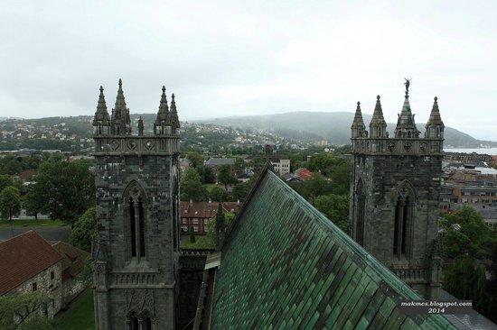 Cathédrale de Nidaros : Вид с балкона