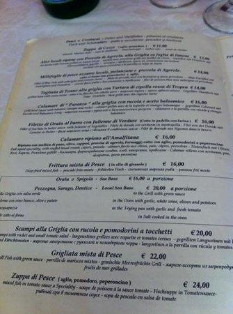 Il Tari: menu secondi
