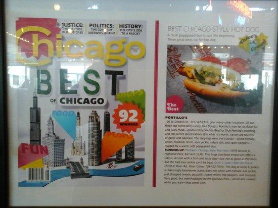 Portillo's: magazine  article