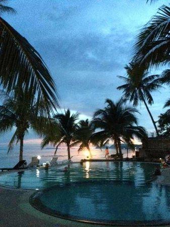First Villa Beach Resort: Sunset at First Villa