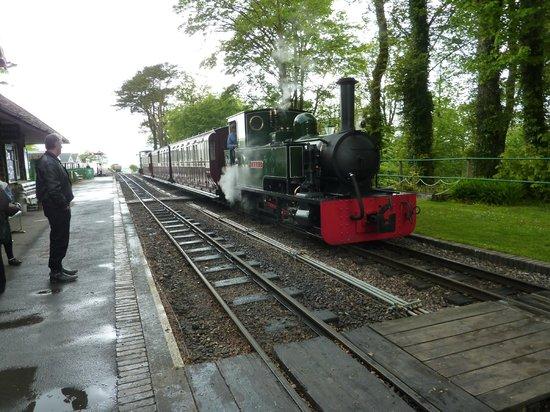 Lynton & Barnstaple Railway: The train in the Station