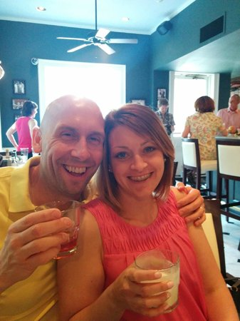 Drink & Learn: My wife and I enjoying our cocktails.