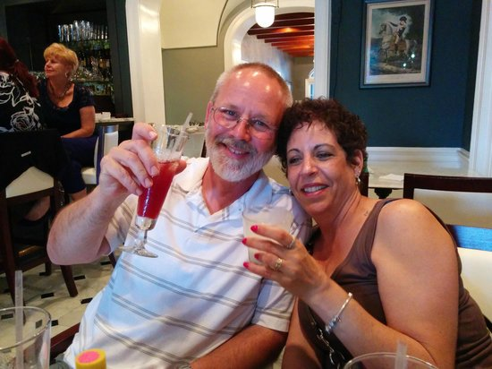 Drink & Learn: My brother and his bride having a great time!