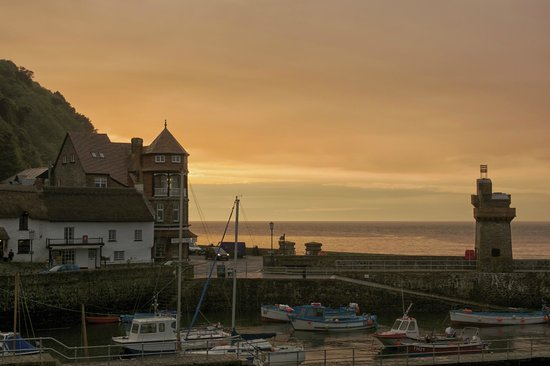 Sunset over Lynmouth.  Taken from Rock House Hotel.