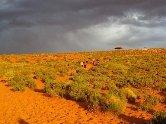 Horseshoe Bend : L'accès dans le soleil couchant