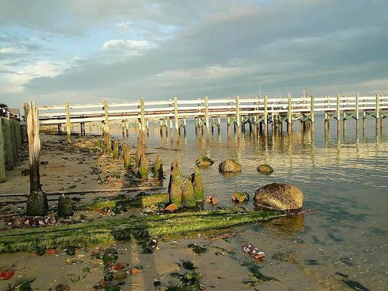 Old Brunswick County Jail Museum: low tide