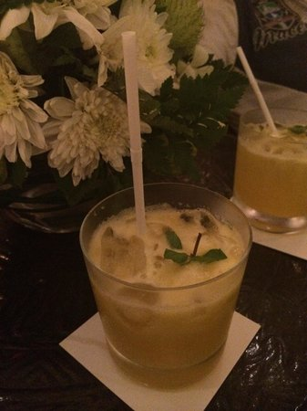 The St. Regis Bali Resort: Welcome drinks at check-in