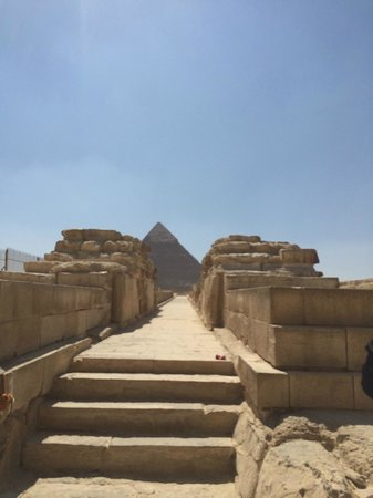 View from the Sphinx to the Pyramids