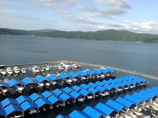 The Coeur d'Alene Resort: View from room
