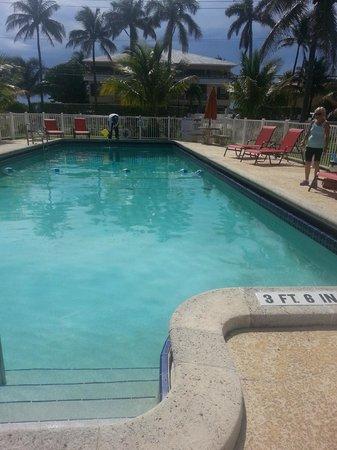 Budget Inn Ocean Resort: Sparkling clean pool and surrounding area