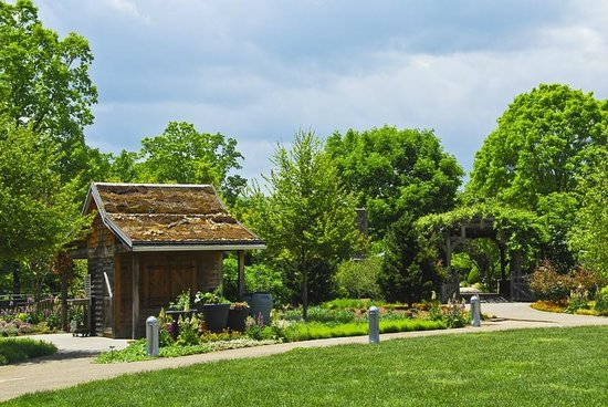 Botanical Gardens At Asheville: Little Shed In The Garden