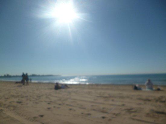Melia Alicante: Beach next to the hotel