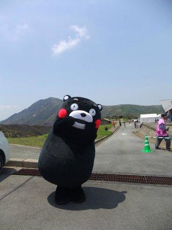 Kusasenri: くまもんがつつじ祭りできてました。