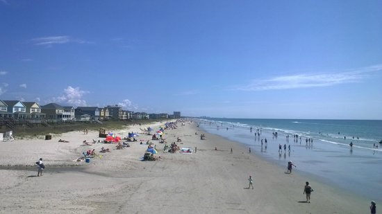 Surfside Beach Resort: View from the pier facing north
