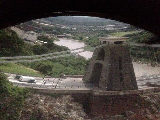 Clifton Observatory and Caves: View of the Clifton Suspension Bridge from the Camera Obscura 2014