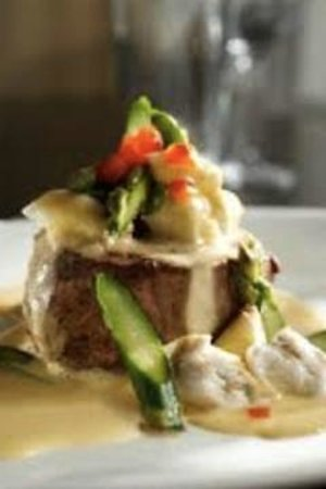 Miller's Seafood & Steak House: Filet Oscar with jumbo lump crabmeat