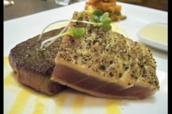 Miller's Seafood & Steak House: Seared Yellow Fin with a Bourbon Teriyaki glaze
