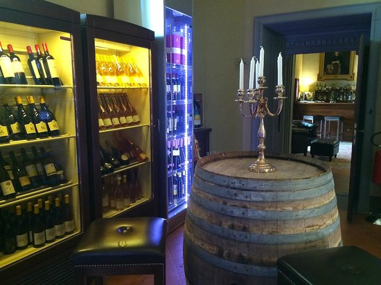 Il Salviatino: View in the hotel's wine library