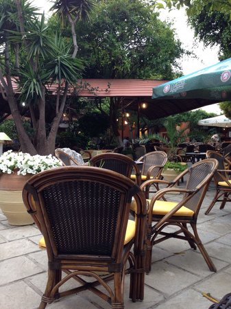 Socratous Garden : Cozy place in the old town, in the courtyard. Lots of greenery waterfall murmurs parrot on