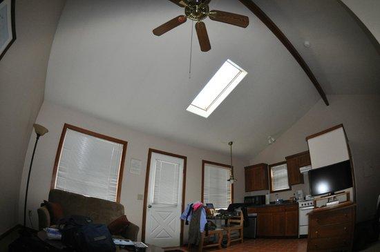 Inn at Haystack Rock : skylight that ruins the room - taken at 6:30am