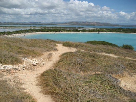 View walking from the lighthouse to Playa Sucia