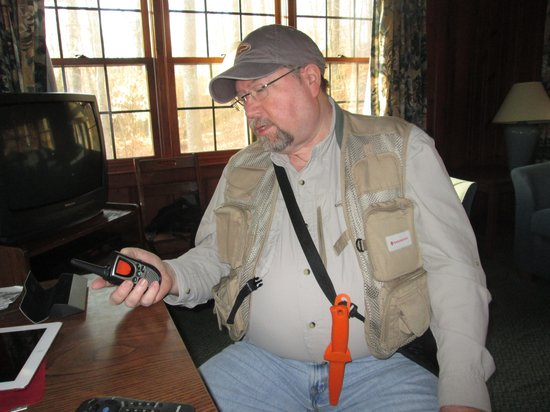 Pennyrile Forest State Resort Lodge : Getting ready for the hunt, sitting at dining table