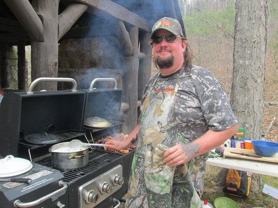 Pennyrile Forest State Resort Lodge : Chris Matherly's feast for us! Awesome!