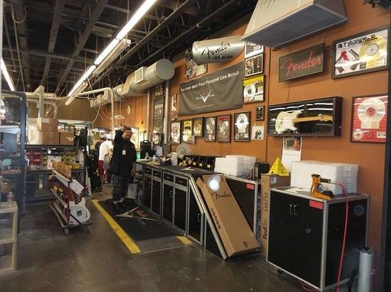 Fender Guitar Visitor Center : custom area