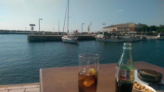 cafe thalassa: drinks in front of you