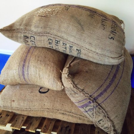 Nathan Miller Chocolate: We order in stacks of cocoa beans like this one for roasting, winnowing, stonegrinding, temperin
