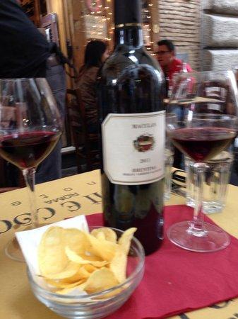 Ergife Palace Hotel : vinho na despedida